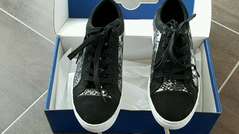 Armani Sneaker silber schwarz 165 Grösse 36 neu Neupreis 165 schwarz Euro 2619a3