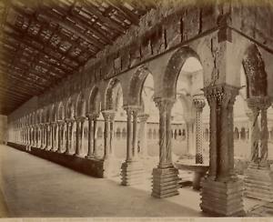 Monreale, Convento dei Benedettini Vintage albumen print Tirage albuminé  21