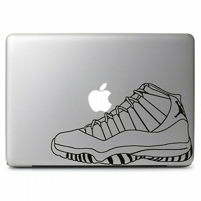 Air Jordan Retro No. 11 Shoes Decal Sticker for Macbook Air Pro Laptop Dell HP