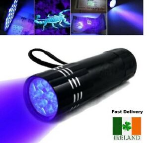 9-LED-Torch-UV-Light-Ultra-Violet-Blacklight-LEDS-Pocket-Flashlight-Mini-Torch