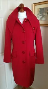 Fr38 Elegante Lakeland Stunning Red Made Italy James In Cappotto Uk10 Nwot Classic PatYaqdw
