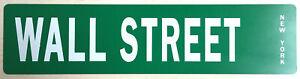Plaque en Métal WALL STREET New York NEUF