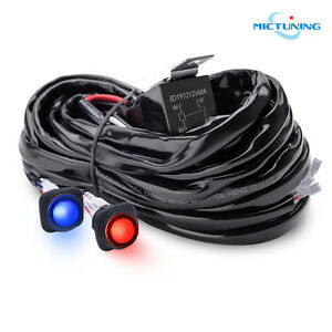 mictuning [exclusive]12ft dual waterproof switch wiring harness kitimage is loading mictuning exclusive 12ft dual waterproof switch wiring harness