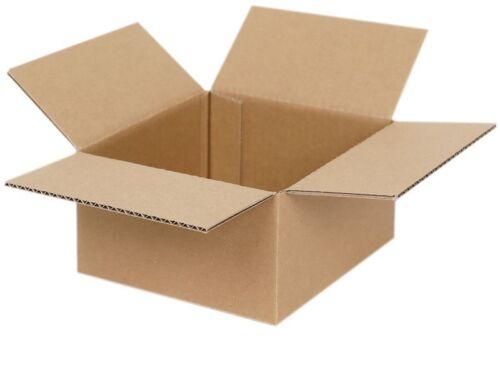 200 Faltkartons 150 x 150 x 80 mm Versandkartons Faltschachteln Kartons Falt-Kar