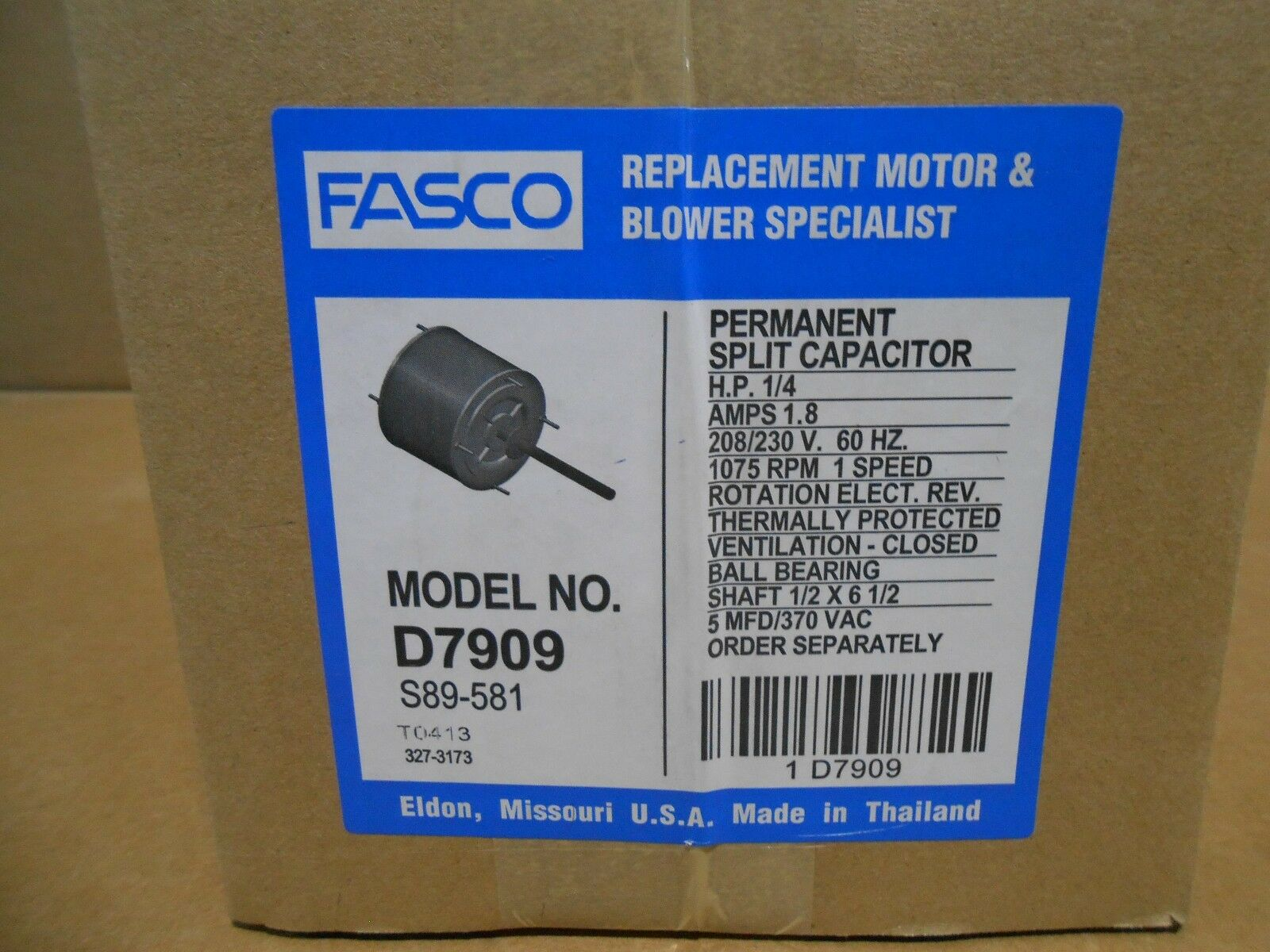 Fasco Motors Wiring Diagram Model No D7909. . Wiring Diagram on