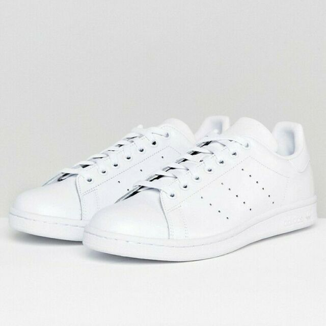 sale retailer cde36 90c0b adidas Originals Stan Smith Triple White Leather Shoes Sneakers Brand New