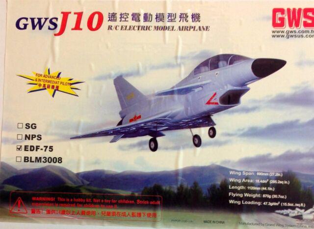 GWS J-10 WITH EDF 75 UNIT AND BL2815-A MOTOR