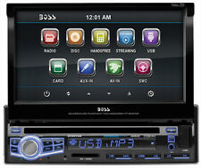 "Boss Bv9976b Car Dvd Player - 7"" Touchscreen Lcd - Single Din - Dvd Video, Video"