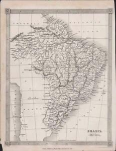 1835. BRAZIL. Map. Alexander Findlay DB65