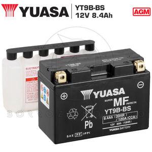 BATTERIA-YUASA-YT9B-BS-12V-8Ah-YAMAHA-YP-MAJESTY-400-2007-2008-2009-2010-2011