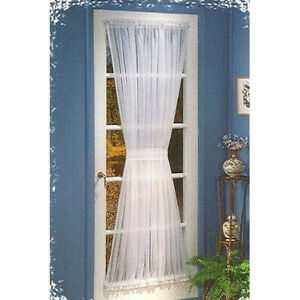 Sheer Voile Door Panels Curtains For French Doors Ebay