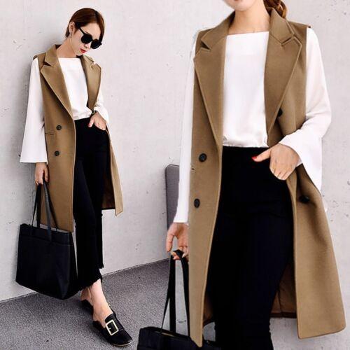 manches femmes Cardigan pour d'hiver sans Manteau Slim Outwear Warm Gilet Gilet Camel Zn7qS54xT