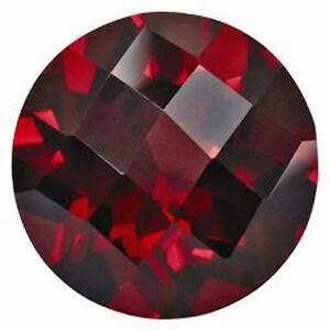 lab created hydrothermal red ruby round checkerboard loose. Black Bedroom Furniture Sets. Home Design Ideas