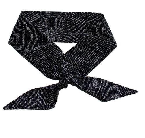 PLUM SEEDS BLACK  made by GRAGGIE AUSTRALIA *GA AUSSIE NECK COOLER SCARF