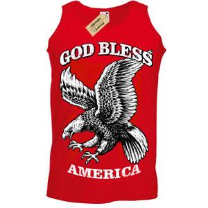 God-Bless-America-T-Shirt-Aquila-USA-Canotta-Uomo