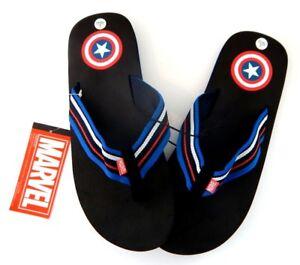 Marvel Comics Avengers Captain America Mens Sandal Sz 8 9 10 11 12 13 M L XL NEW