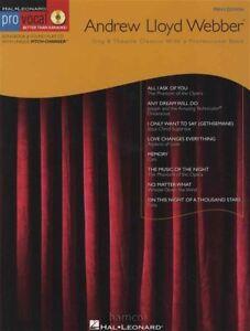 Andrew Lloyd Webber Pro Vocal Men's Edition Music Book & Sing-along Cd-afficher Le Titre D'origine