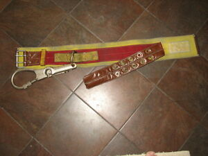 Used-Size-40-Fireman-039-s-Belt-with-Large-Carabiner