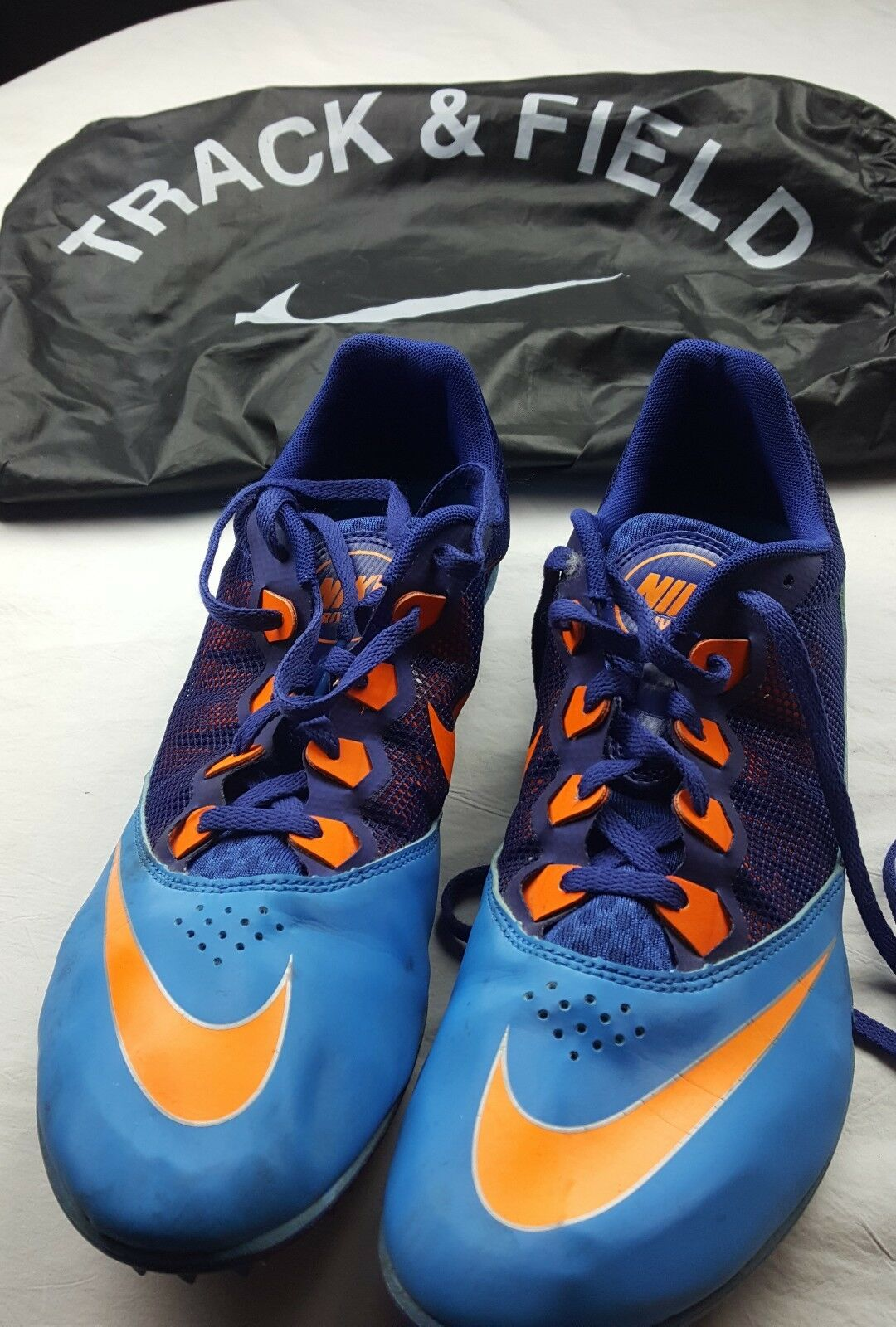 Nike Rival S Racing Sprint Running Track Spikes Shoes Men 12 blue & Orang 616313 Brand discount Seasonal clearance sale