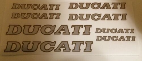 Ducati 90/'s style Decals assorted Silver//Gold