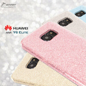 competitive price 72196 2d3f6 Details about Glitter Shining Bling TPU Jelly Gel Case Cover For Huawei Y6  Elite 4G