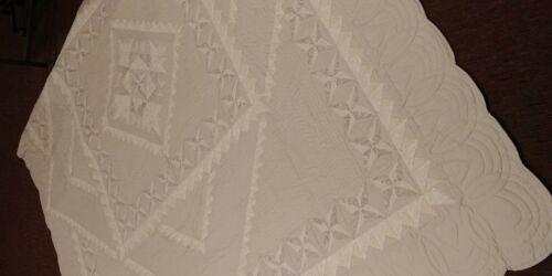 Spring Summer Creamy Soft-Color King Quilt Custom Hand-stitched Shenk Design Rev