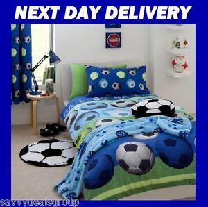 Image Is Loading BOYS SOCCER FOOTBALL DOONA QUILT DUVET COVER CATHERINE