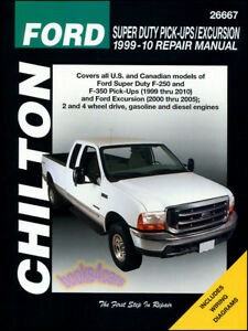 ford f250 f350 shop service repair manual chilton book haynes pickup rh ebay com