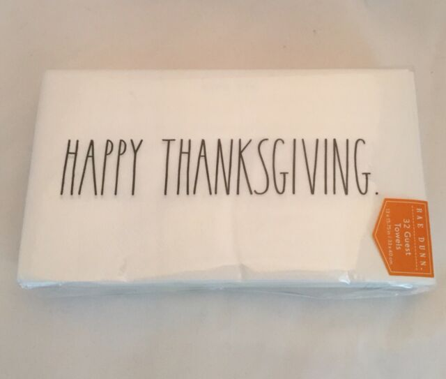 Rae Dunn Gobble Beverage Paper Napkins Set of 40 Thanksgiving