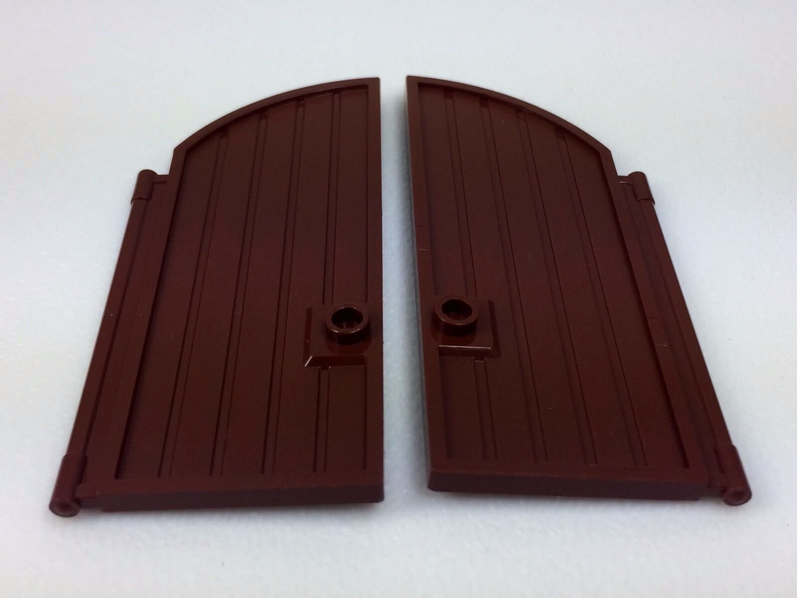 LEGO 2x Lot Brown Curved Top Arch Castle Door 1 x 5 x 10 8376 6081 6059 6090