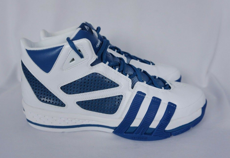Adidas Formotion SAMPLE PROMO Basketball White 13 Blue Shoes Mens Sz 13 White - NEW 359be5