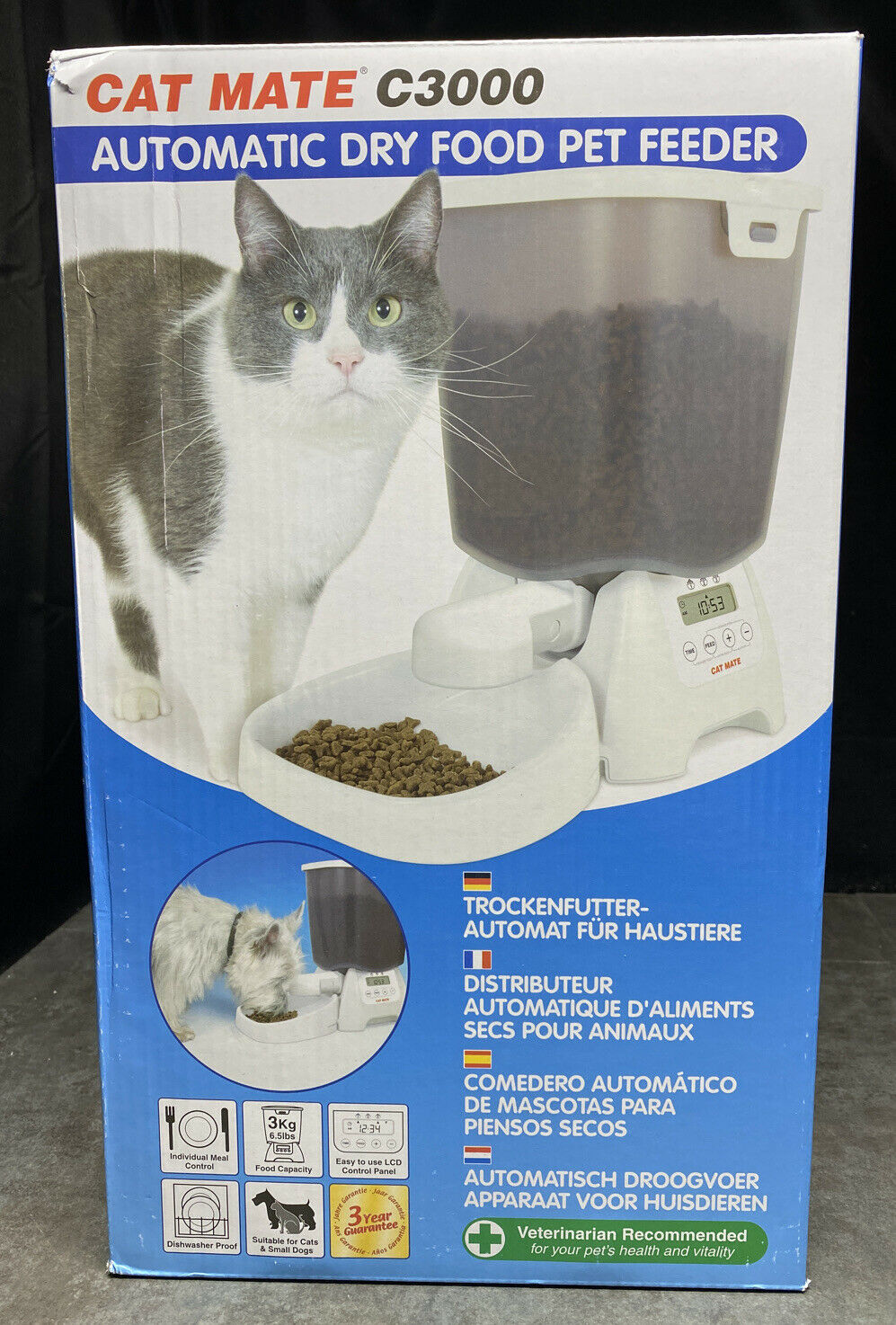 Cat Mate C3000 Automatic Dry Food Pet Feeder V8252f For Sale Online Ebay