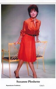 SUZANNE-PLESHETTE-hollywood-MOVIE-STAR-actress-GLAMOUR-modern-2000-postcard