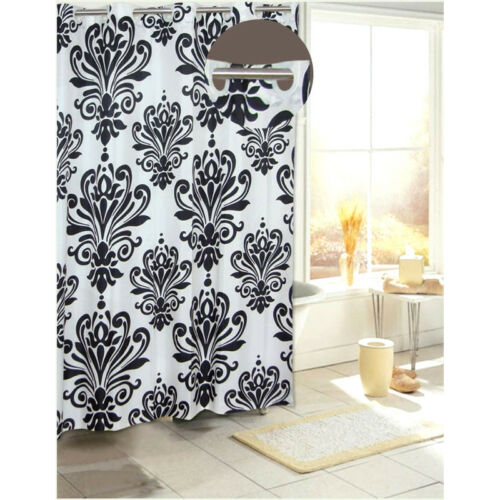 Beacon Hill Hookless Fabric Shower Curtain Assorted Colors