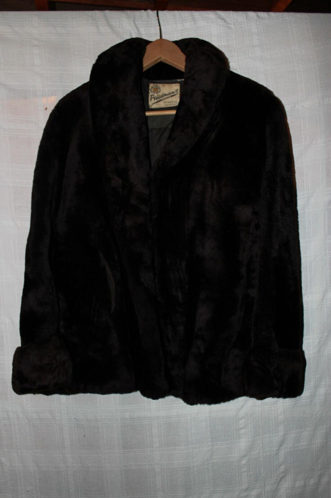 Vintage Womens Bever fur Coat by Friedman's