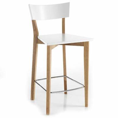 Sgabello bar Tomasucci bianco in legno masello set 2 sgabelli cucina Kyra Wood | eBay