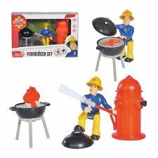 Feuerlösch Set mit Figur Sam | Spiel Figuren Set | Feuerwehrmann Sam