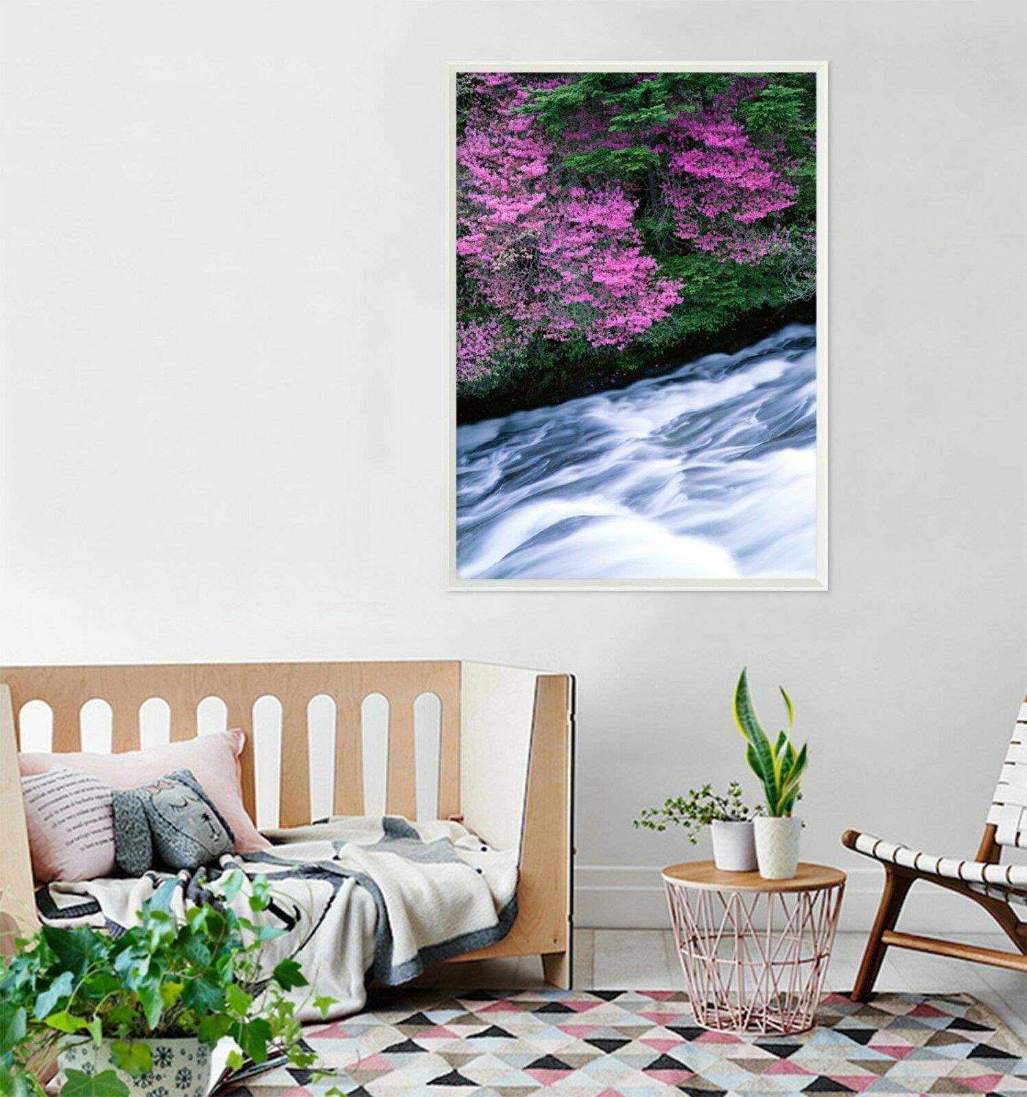 3D Flowers River 575 Fake Framed Poster Home Decor Print Painting Unique Art