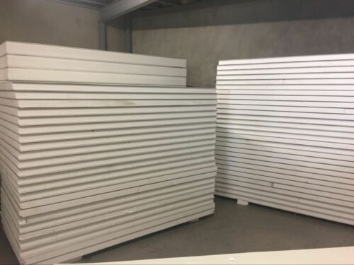 Insulated EPS Coolroom Wall panel Roof Panel 75mm ,1180mm 3.6m L 0.6