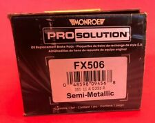 Monroe FX508 ProSolution Semi-Metallic Brake Pad Monroe Brakes