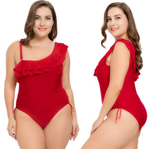 fd04b69445 Image is loading Sexy-Women-Plus-Size-Swimsuit-Monokini-Swimwear-Bathing-