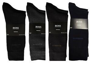 Boss-Chaussettes-Pack-de-Deux-Lot-2-Lot-2-Coton-Fin-Doux-Akt-Collection