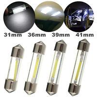 2x White 31MM/36MM/39MM/42MM COB filament LED Festoon Dome License Glass Lights