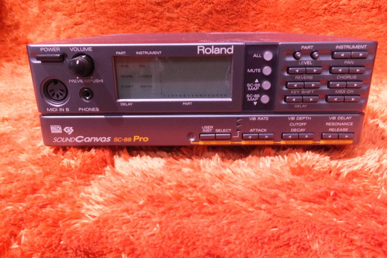 Roland Roland Roland SC-88 Pro sc88pro Módulo de lona de sonido synth AJ73213 180326  comprar barato