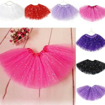 Princess Tutu Skirt Girls Kids Party Ballet Dance Wear Dress Pettiskirt Clothes