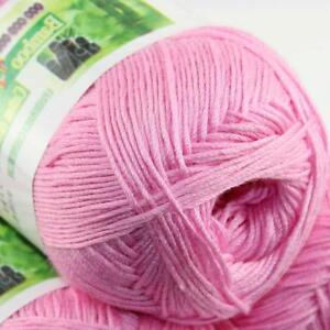 Summer 1Ball x 50g Bamboo Cotton Baby DIY Thread Knitting Crochet Finger Yarn 30