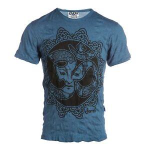 Yoga à manches courtes hommes T Shirt Sure PURE CONCEPT Bouddha New Art Love om coton
