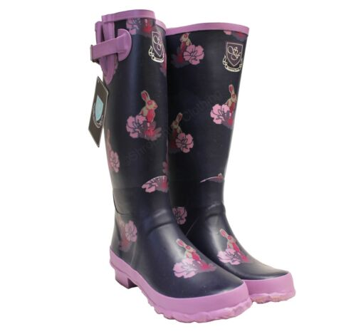 Womens Outdoor Sherwood Forest Vienna Wellies Wellington Rain Festival Boots