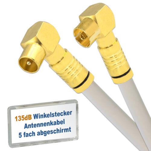 Cavo antenna con spina angolo 90 ° spina presa /</> Cavo Coassiale 135 DB HD 4k