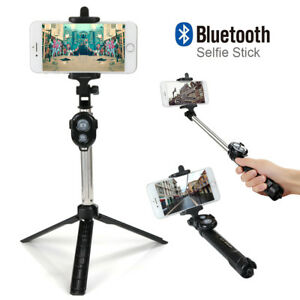 Selfie-Stick-Monopod-Extendable-Handheld-Tripod-Bluetooth-Wireless-Shutter-UK